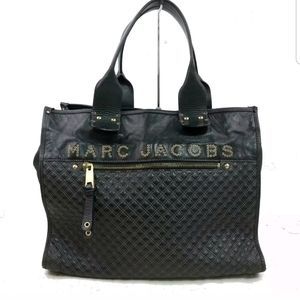 MARC JACOBS Large Leather Studded Logo Tote